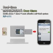 Livraison gratuite quadri-bande GSM Tracker Mini temps réel GPRS Tracking porte système d'alarme antivol