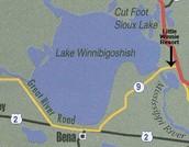 Acreage of lake winnbogoshish