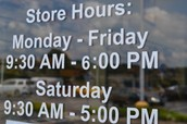 Our Hours!