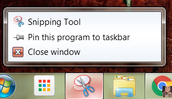 Pin the Snipping Tool to the Taskbar.