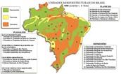 Localização dos relevos Brasileiros