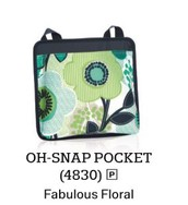 Oh Snap Pocket in Fabulous Floral