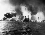 Hawaiian naval base attacked by Japanese Empirialists