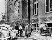 The church after the bombing