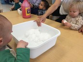 Brought the snow into the classroom