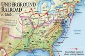 Map of the underground railroads