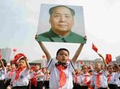 Small kids were taught to follow Mao Zedong communism