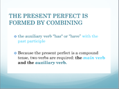 FORMING THE PRESENT PERFECT