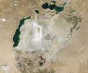 Het Aralmeer in 2009