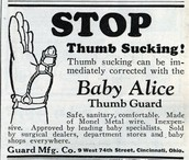 Stop thumb sucking! Advertisement from the 20's