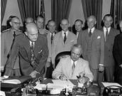 Truman signing National Security Act