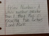 Prime numbers and definition