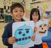 Using Shapes to make our Jack-O-Lanterns