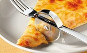 A fork and Pizza cutter