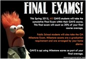 Finals and Milestones are coming soon!