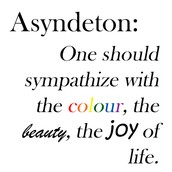 Types of Asyndeton