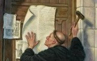 Martin Luther Nails 95 Theses To Church Door