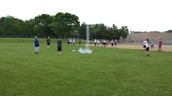 8th graders launching rockets