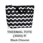 Thermal Tote in Black Chevron