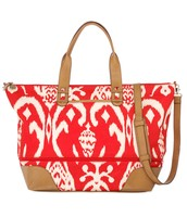 Getaway Expandable Travel Bag - Red Ikat $95