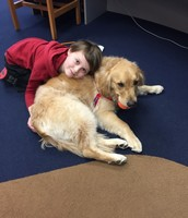 Hazel, the Reading Therapy Dog