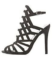 Qupid laser cut dress sandals