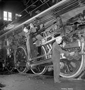 Woman working in mechanics