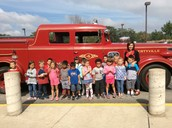 We loved our ride on the firetruck!