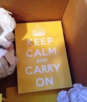 Keep calm yellow wall art