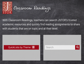 JSTOR: Classroom Readings