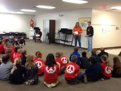 Geena and Nathan speak to our elementary students