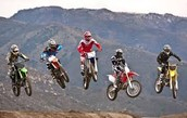 riding dirt bikes