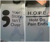 H.O.P.E. custom screen printed long sleeve shirt