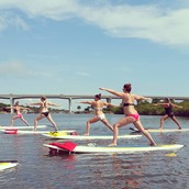 Try your yoga skills on the water!