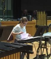 Kayla Kaeppel locating the music.