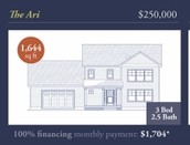 The Ari: $250,000 100% Financing Monthly Payment *$1,704+/-