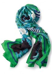 Union Square Scarf Spring Green Mixed Print