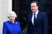 Prime Minister David Cameron and Queen Elizabeth II