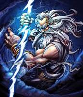 Zeus God of lighting