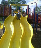 slide in candy cane park