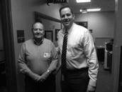 Mr. Hosp and Mr. Else after he was named principal