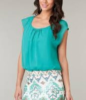 Blue Teal Casual Dress