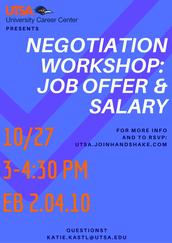 Job Offer/Salary Negotiation Workshop (10/27)