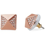 Rose Gold Pyramid Studs