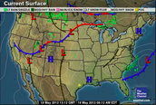 Weather Map of a Warm Front