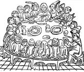 Pilgrims at Supper