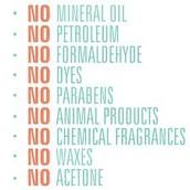 Free of harmful ingredients
