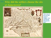Map of Jamestown