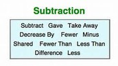 Cheat Codes for Subtraction