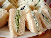 Cream Cheesy Cucumber Sandwich